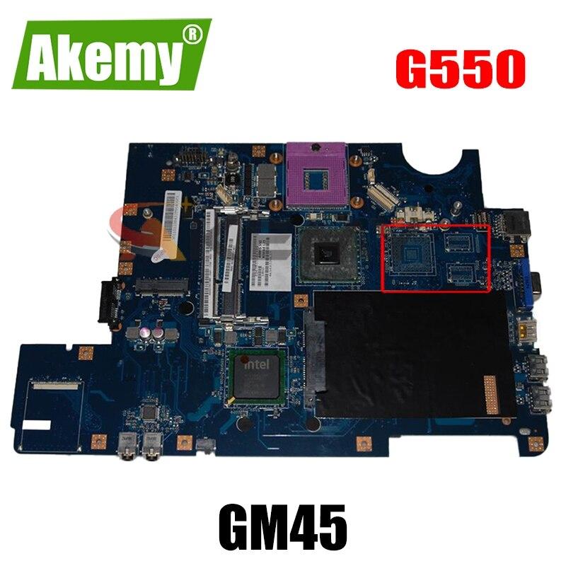 اللوحة الأم للكمبيوتر المحمول لينوفو Ideapad G550 اللوحة الرئيسية LA-5082P GM45 DDR3