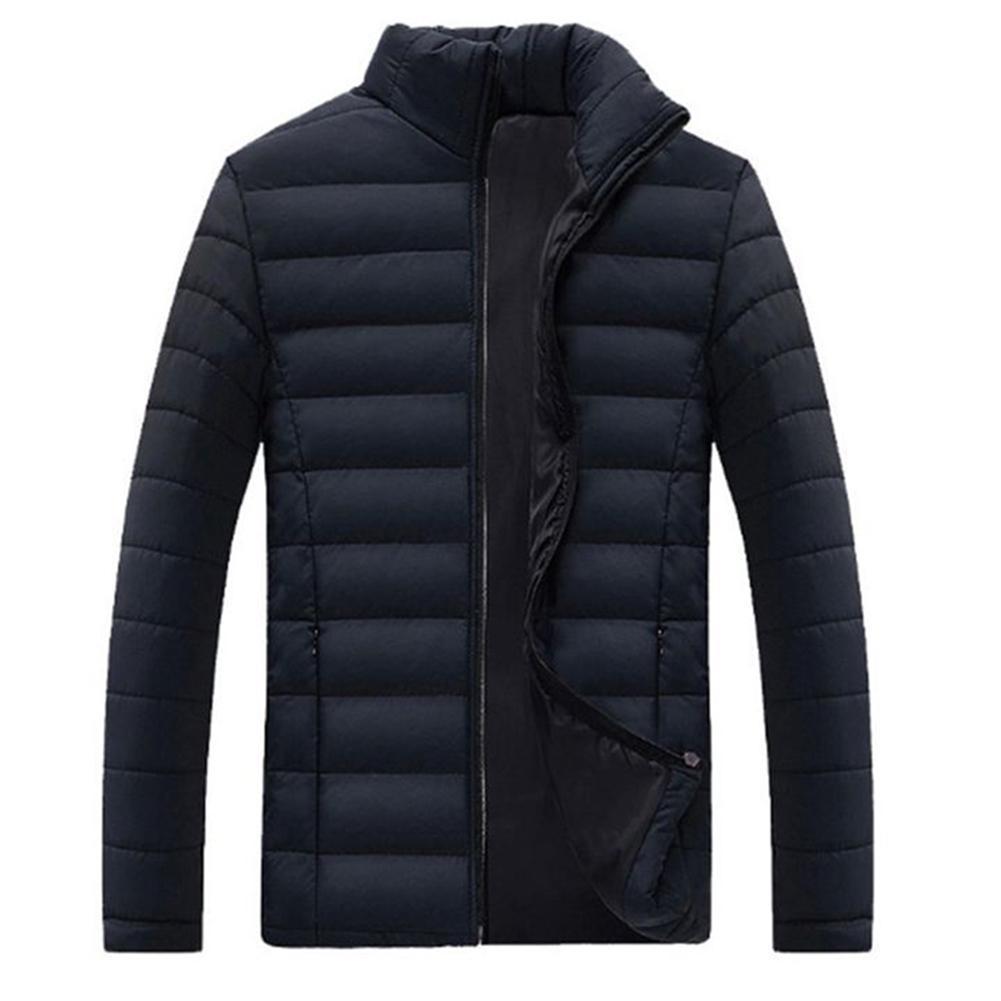 Abrigo de invierno cálido para hombre, Chaqueta de algodón, con cremallera y...