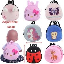 Doll Backpack Kitty Unicorn Pony Purse Bag Fit 18 Inch American&43Cm Baby New Born Doll Reborn Logan