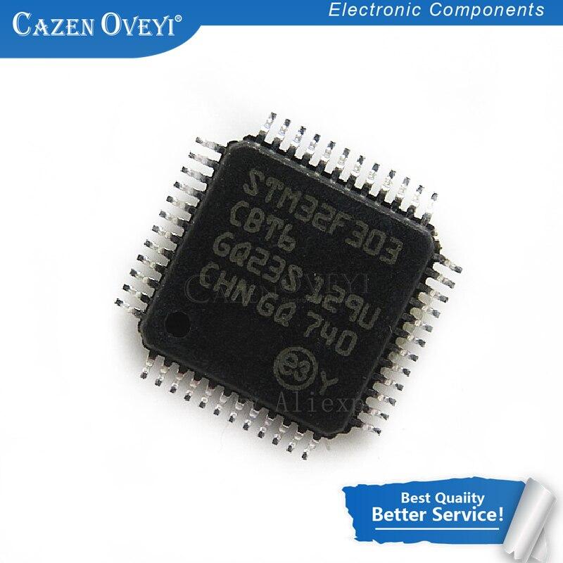 Qfp48 em Estoque Lote Stm32f303 Cbt6 32-bit Arm Cortex Mcu m4 72mhz 128kb Fpu 2 Pçs – Stm32f303cbt6