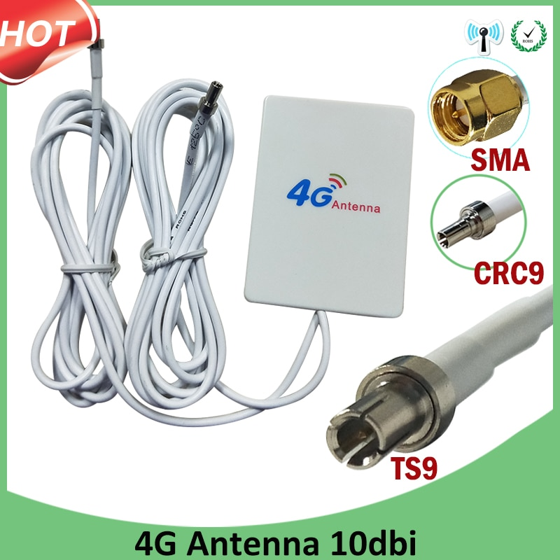 4g Роутер антенна SMA Штекерная панель TS9 SMA CRC9 разъем 3G 4G IOT роутер антенна с 2 м кабелем 3G 4G LTE роутер модемная антенна
