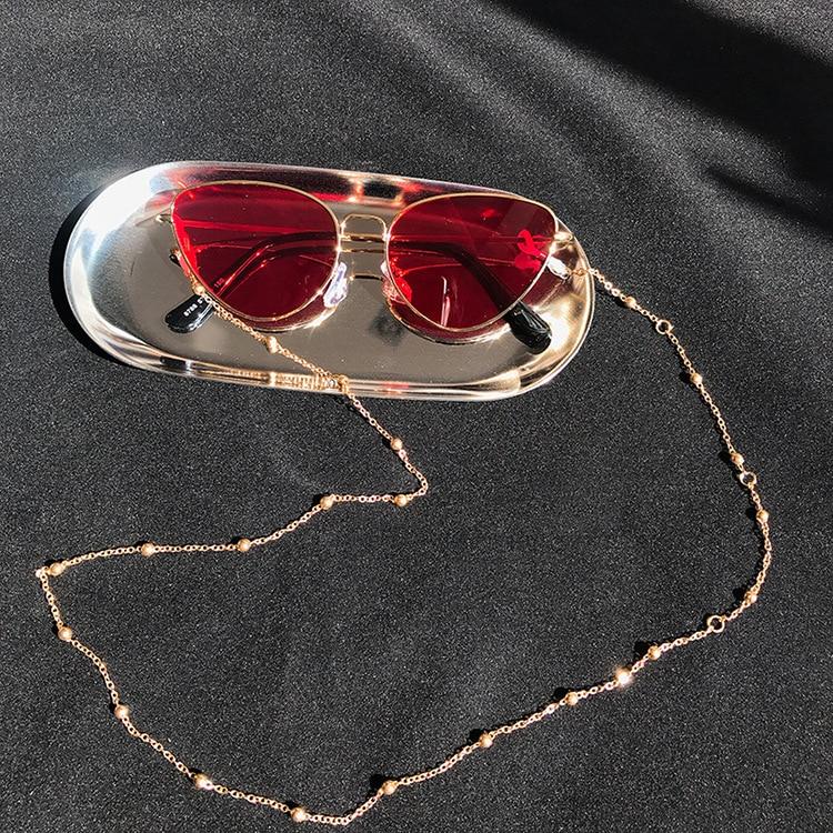 Модные шикарные женские цепочки для очков, солнцезащитные очки для чтения, очки с бусинами, цепочка для очков, держатель шнура, ремешок на шею