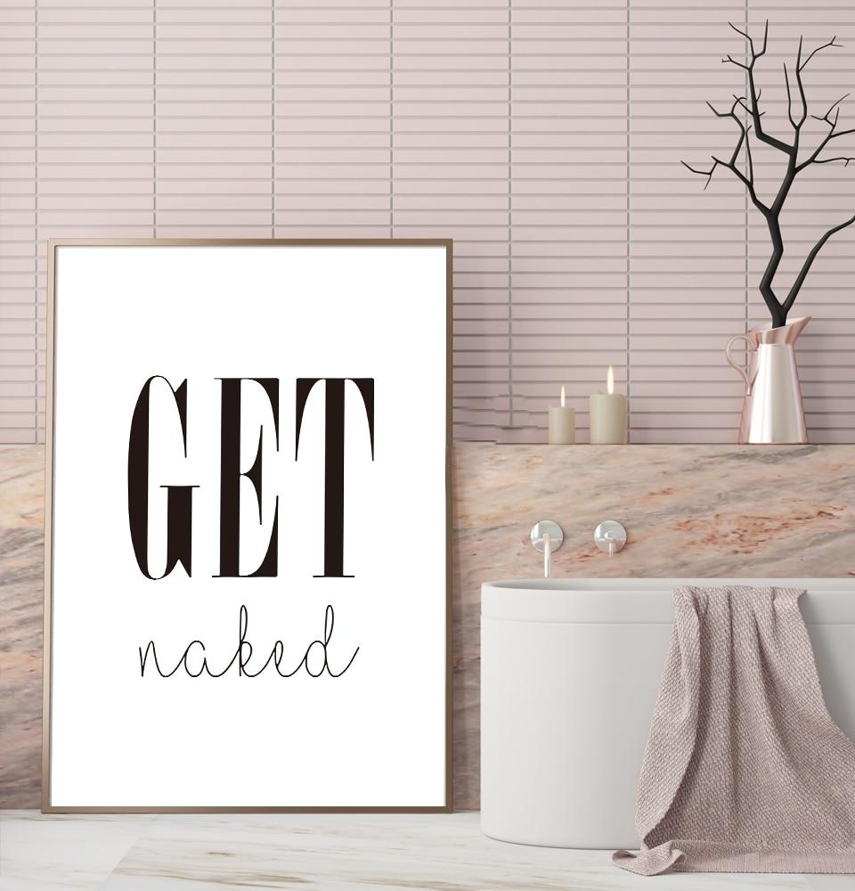 Cuadros modulares modernos para baño, murales de obras de arte, gráficos para decoración del hogar e impresión, pintura de lienzo para pared desnuda