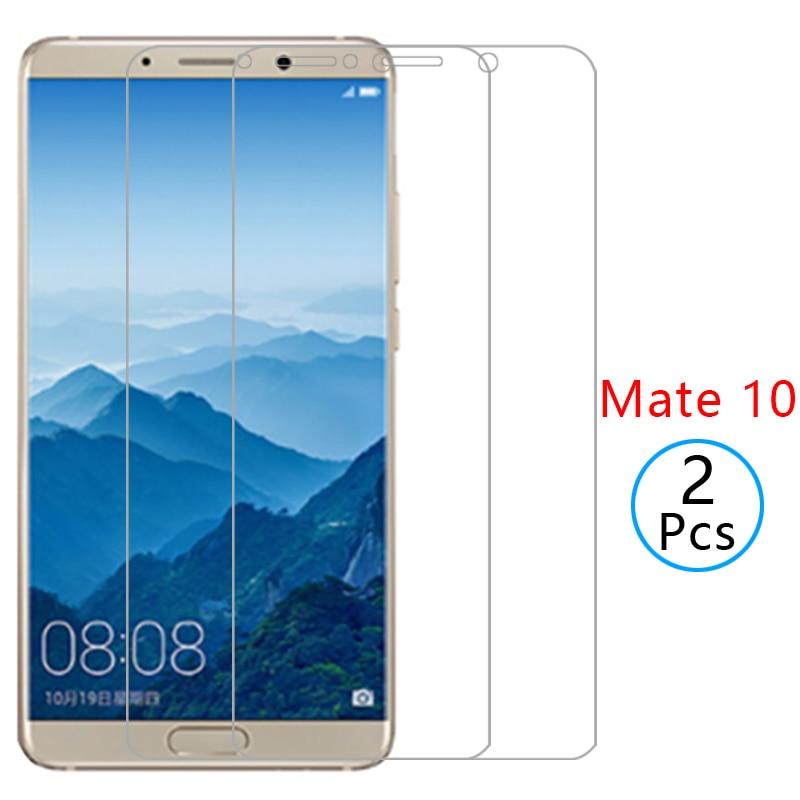 Caso huawei mate 10 cubierta de protector de pantalla de vidrio templado en mate10 hecho protector mate teléfono coque 5,9 ALP L09 L29 AL00