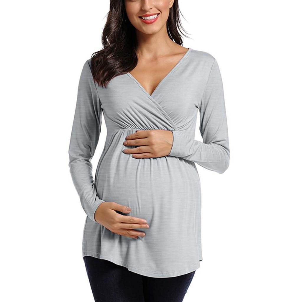 Беременности и родам женская блузка для кормления грудью топы с длинными
