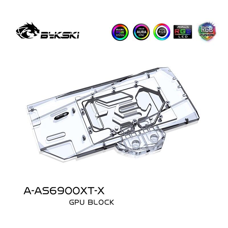 Bykski A-AS6900XT-X,GPU Water Block For ASUS TUF RX6900XT O16G GAMING Graphic Card Radiator VGA  Cooler 12V RGB/5V ARGB SYNC