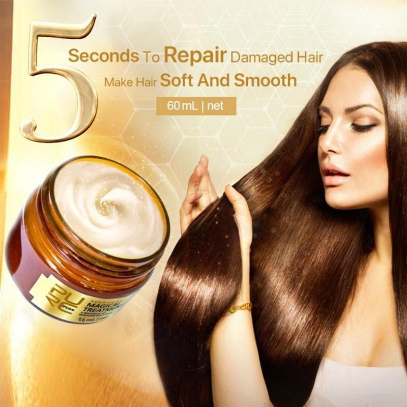 Mascarilla Reatment acondicionador de 60ml repara daños restaura el cabello suave para...