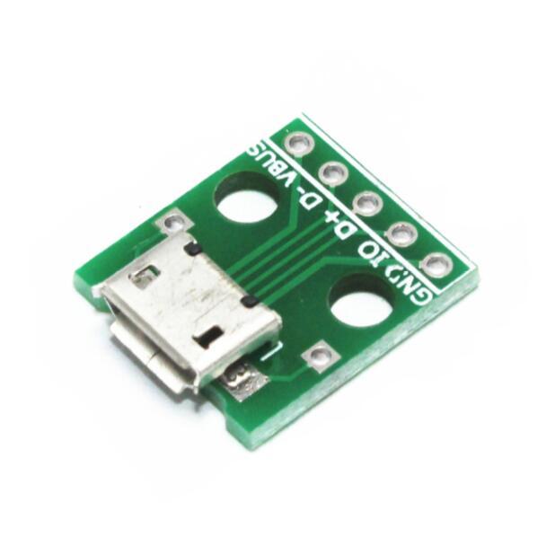 5pcs מיקרו USB לטבול/נקבה סוג B/מייק 5p / SMD לטבול/מתאם לוח/מרותך/נקבה
