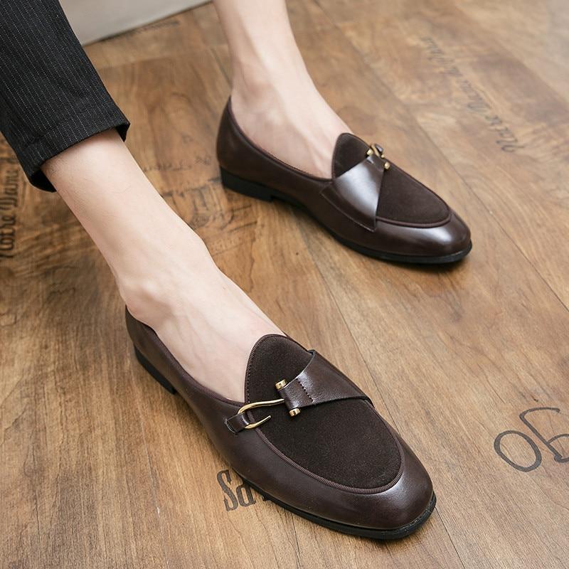 Туфли мужские Нескользящие, деловая повседневная обувь для офиса, официальный бренд, роскошные модные оксфорды с низким вырезом