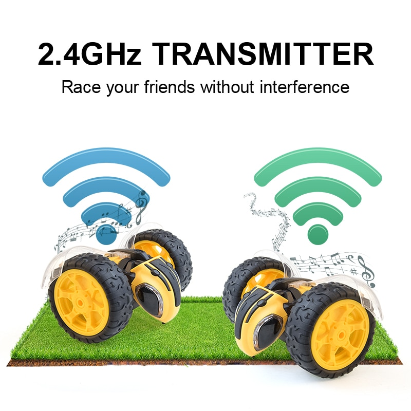 bee RC Car Remote Control Toy Stunt Car Monster Truck Radio Electric Dancing Drift Model Rotating Wheel Vehicle Motor child Gift enlarge