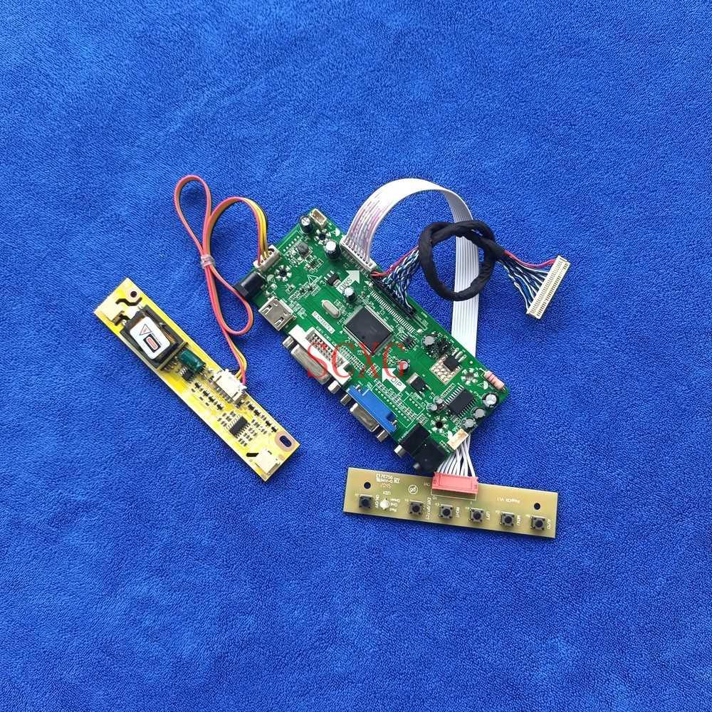 2CCFL VGA DVI HDMI-متوافق شاشة LCD M.NT68676 كارت قيادة صالح HT156WX1/LM156WH1/M156B1/M156XW01 لتقوم بها بنفسك عدة LVDS 30-Pin 1366*768