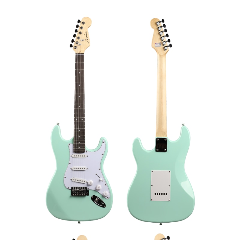 Solid Body Green Electric Guitar Accessories Acoustic Electric Guitar Kit Pickup Contrabaixo Eletrico Musical Instruments BE50DJ