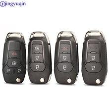 Jingyuqin Neue Flip Remote Auto Schlüssel Shell Fall für Ford Fusion Edge-Explorer 2013-2015 FCC ID: n5F-A08TAA (Shell Nur) HU101 klinge