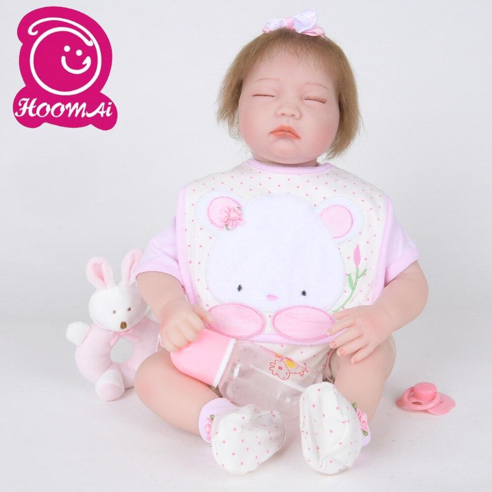 """Encantadora 22 """"Mohair suave de cuerpo de silicona sólida muñeca bebé recién nacido muñeca Kit de juguetes figura de acción"""