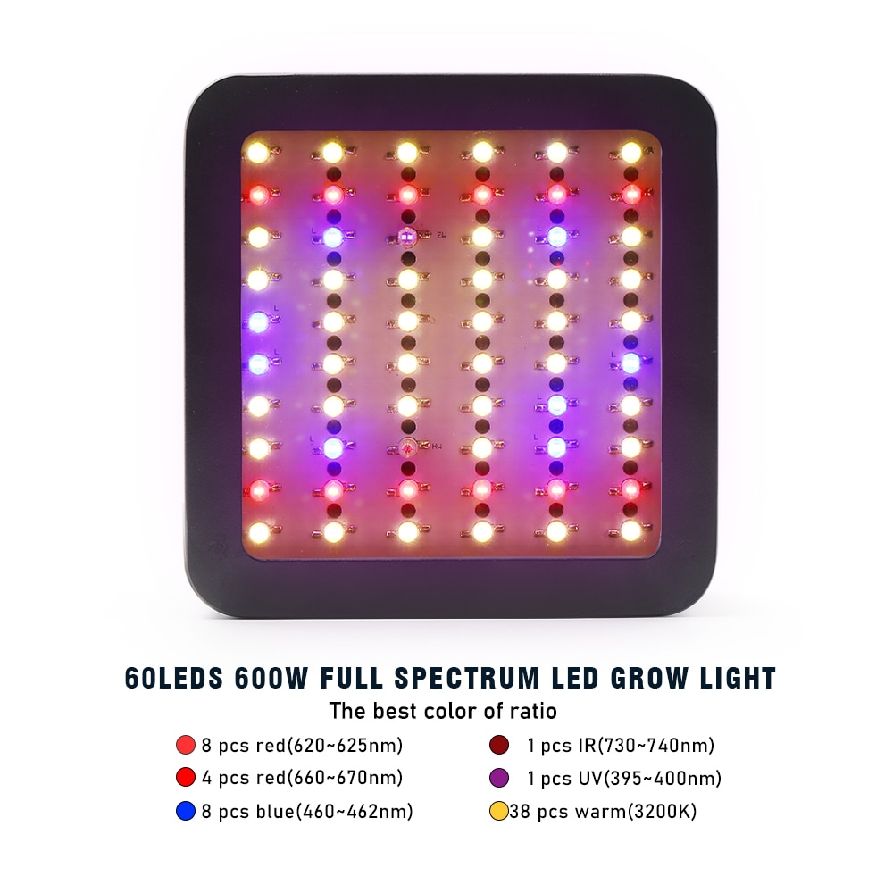 Led Grow Light 600W Full Spectrum Growing Lamp Phytolamp for Greenhouse Plants Vegetable Flowers Seeding Cultivation Grow Tent enlarge
