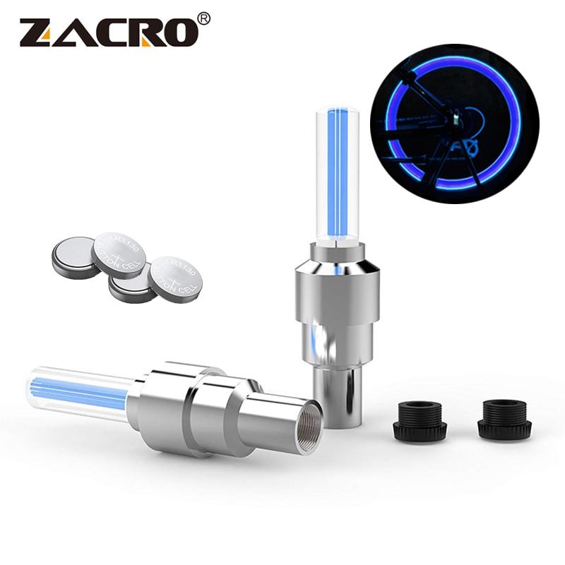 Zacro 2PCS Bicycle Lights Wheel Tire Valve's Bike Light Cycling Riding Sport Spoke Safety Warning Lamp Lights Taillight