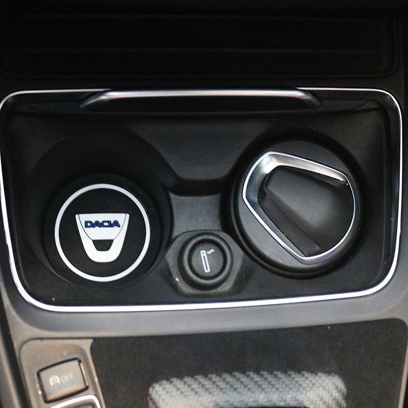 2PCS Car Water Cup Bottle Holder Anti-slip Pad Mat Silica Gel For Dacia Lodgy 2 Mcv Sandero Duster Logan SanderoCar-Styling