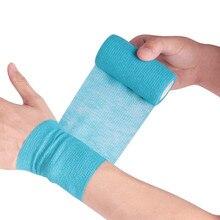 Vendaje médico de gasa autoadhesivo, vendaje elástico transpirable para deportes, fijación de dedo, muñeca, pierna, 2,5/5/10cm * 4,5 m, 1 rollo