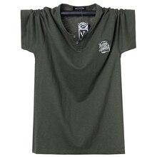 Summer Men T-shirt Crew-Neck T Shirt Cotton Men Large Tops Tee Breathable Slim Fit T Shirt Homme Comfortable Oversized 5XL 6XL
