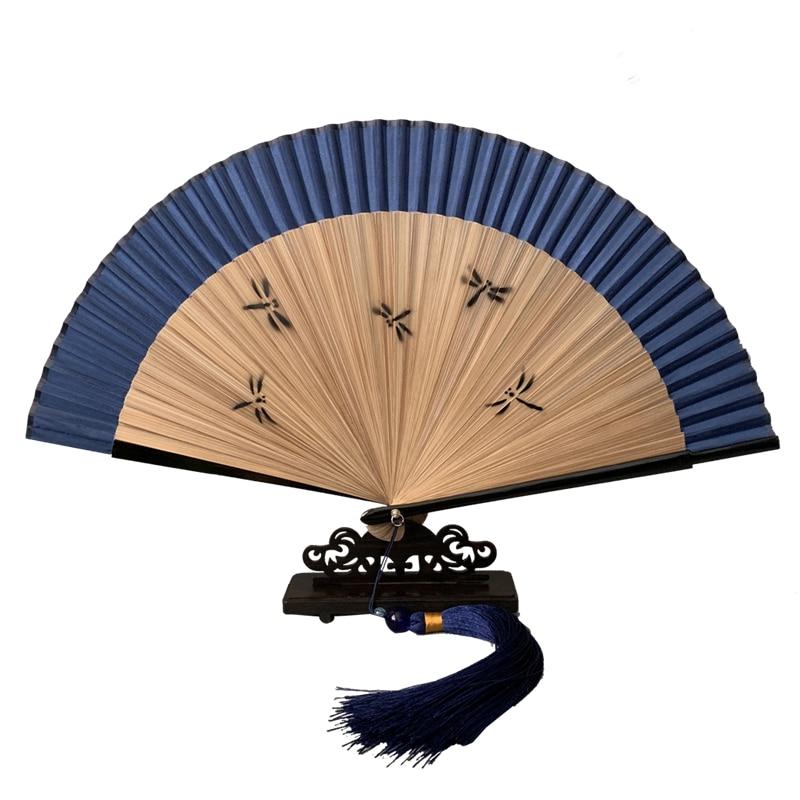 Abanico de mano japonés clásico de seda de cereza Para mujer, abanico...