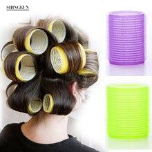 Nissi Jumbo ролики для волос 6 шт. бигуди самоудерживающиеся ролики парикмахерские бигуди дизайн для волос липкий стиль для DIY или
