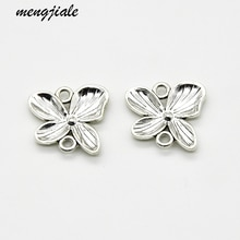 15pcs New style antique silver metal Flower Connector charms pendant for Women Jewellery necklace pe