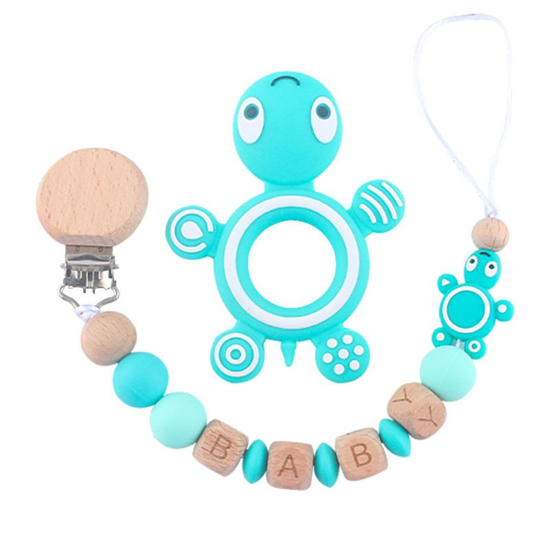 Clips para chupetes de bebé, chupete Unisex, cadenas para chupete de bebé con mordedor, juguetes U90B