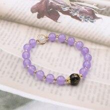 "Beads Bracelet Wristband Natural Stone Crystal Strand Bracelets Good-Luck feng shui Wealth Yoga Bangle Wrist Jewelry 7.5"" B313"