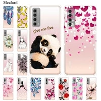 for huawei p smart 2021 case transparent soft tpu silicon phone cover for huawei psmart 2021 case p smart 2021 clear p smart2021