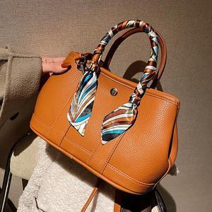 Elegant Female Ribbon Tote bag 2021 Fashion New Quality PU Leather Women Designer Handbag High capacity Shoulder Messenger bag