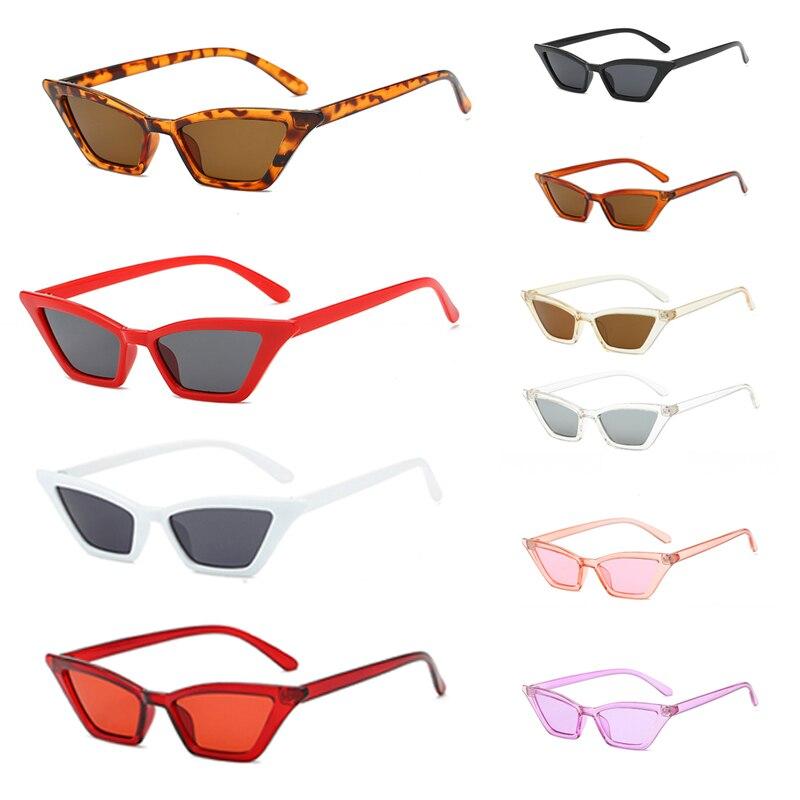 2021 New 1pcs Women Vintage Cat Eye Sunglasses Retro Small Frame Fashion Shades Glasses Women's Sunglasses Glasses Cyber Punk gold frame pink cat eye stylish sunglasses