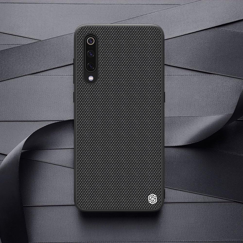 for Xiaomi Mi 9 caso NILLKIN Caso Texturizado Fibra de Nylon Não-slip de Negócios de Luxo Fosco Tampa Traseira Para For Xiaomi Mi 9 explorer 6.39