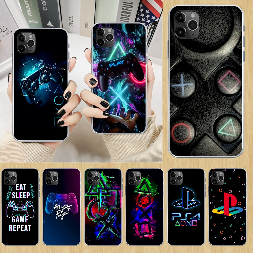 PlayStation buttons PS Phone Case cover For iphone 5 5S 6 6S PLUS 7 8 12 mini X XR XS 11 PRO SE 2020 MAX transparent waterproof