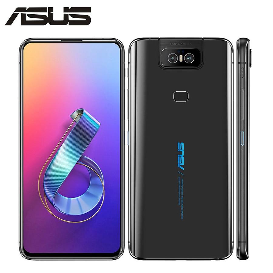 "Nueva Marca Asus Zenfone 6 ZS630KL teléfono móvil 6,4 ""6GB RAM 128GB ROM Snapdragon855 Octacore 5000mAh NFC Android 9,0 Dual SIM"