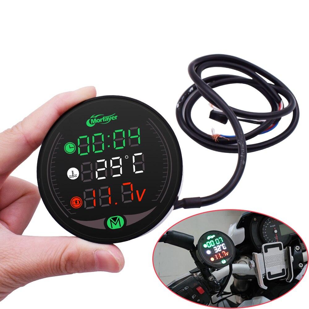 Indicador de motocicleta, voltímetro de mesa de visualización, reloj temporal de agua, carga de tiempo para Suzuki GSXR400 GT250 GT550 RG500 RGV250 VS800 VZ800