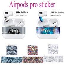 1 stücke Ultra Thin Schöne Aufkleber Für AirPods Pro Fall Aufkleber Haut Film Staub Schutz Nette Print Staub-beweis schutzhülle