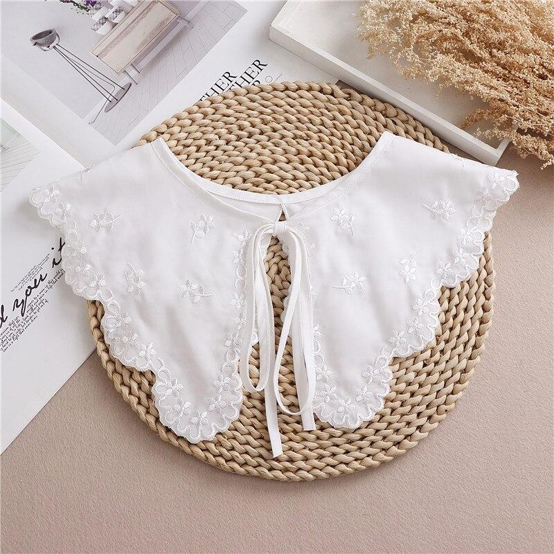 New White Shawl Doll Fake Collar Female Shirt False Collar Ladies Detachable Half Shirt Lapel Blouse