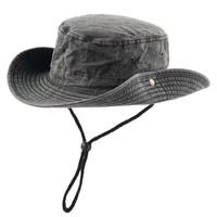 100 cotton washed bucket hat mens summer uv protection hats hunting camping fishing boonie hat womens outdoor cap dark grey