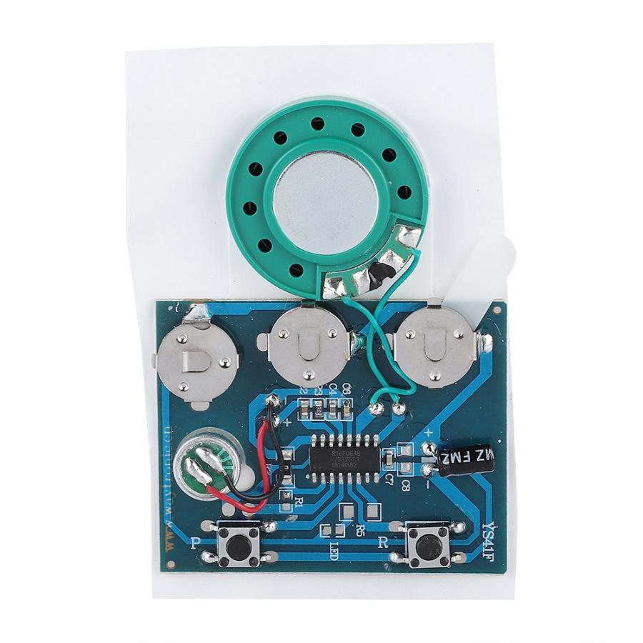 30s grabable música sonido voz módulo Chip 0,5 W con botón de grabación de batería Chip de grabación de voz módulo