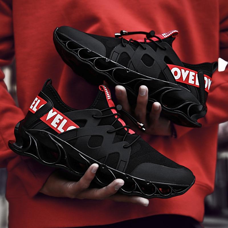 SENTA Blade Warrior-Zapatillas de correr para hombre, zapatillas deportivas profesionales de verano, de malla transpirable acolchada, para exteriores