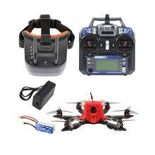 X6 175mm cadre Flysky TX FPV lunettes F4 Pro contrôleur de vol intégré OSD BEC MT1204-5000kv moteur 3016 accessoires 1200TVL FPV caméra
