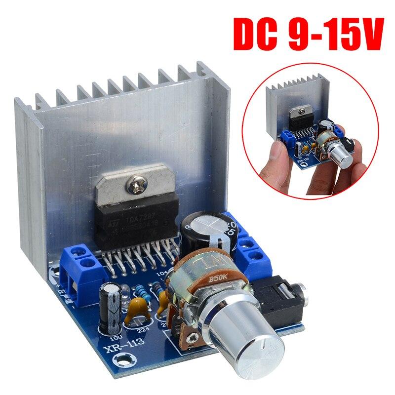 Tda7297 2 placas de amplificador de canal ac/dc 12 v 2x15 w amplificadores de áudio digital placa de módulo de canal duplo
