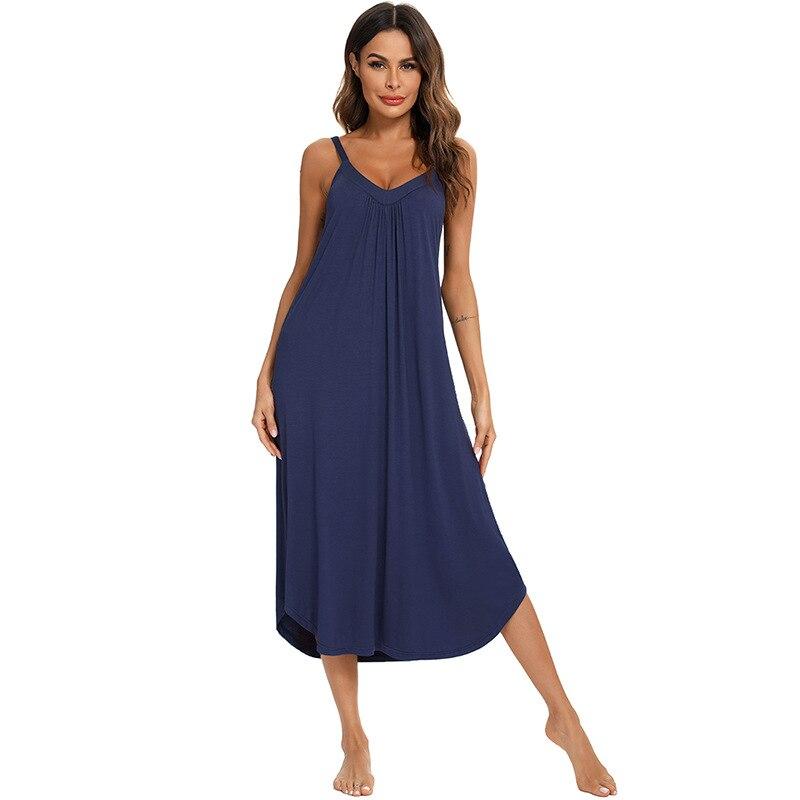 ثوب نوم طويل من القطن للنساء بلا أكمام فستان سهرة ملابس النوم زلة مثير ثوب النوم للمرأة ملابس النوم ثوب النوم 2021