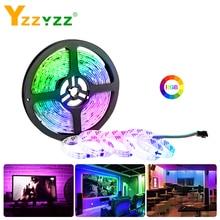 DC 12V RGB 5050SMD WS2811 Smart IC LED Strip Light Tape Colorful Ribbon 1/2/3/4/5M 3A 17KEY for Living Room Decoration Christmas