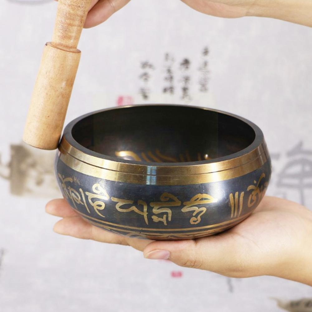 Тибетская Поющая чаша, декоративная настенная посуда, домашнее украшение, настенная посуда фэн-шуй, декоративное тибетское буддийское лук ...