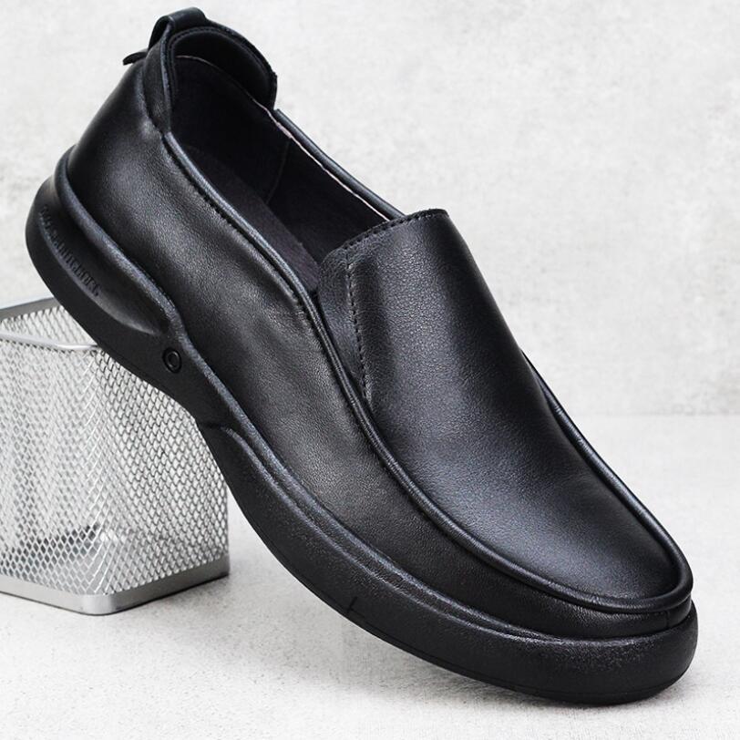 اليدوية جلد أصلي للرجال أحذية لوفر النمط البريطاني عادية لينة باطن حذاء تنفس الرجال الفاخرة مصمم الشقق زائد 47 48