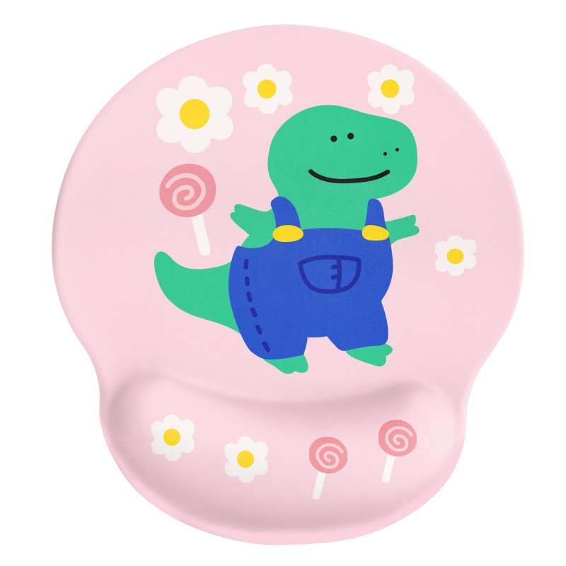 24x22x2cm  Silica Gel  Flower Little Dinosaur  Mouse Pad  Lovely Wind  Rest to Relieve Wrist Pressure