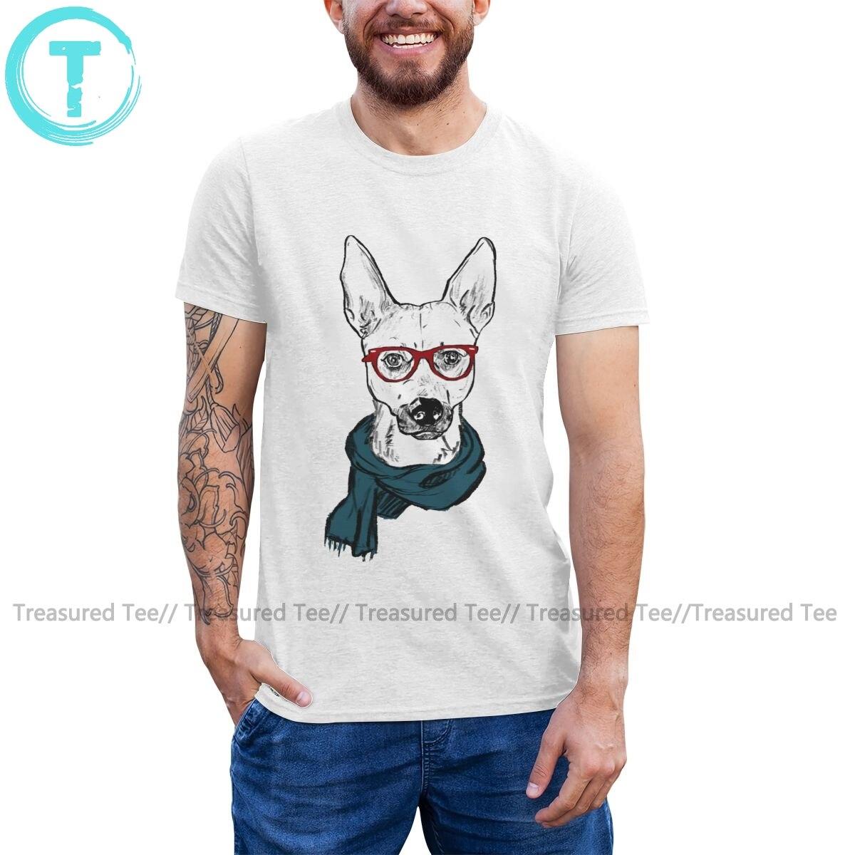 Camiseta de perro en blanco, Camiseta de algodón para hombre con diseño de Hip Mutt, camiseta de manga corta con gráfico bonito, talla grande