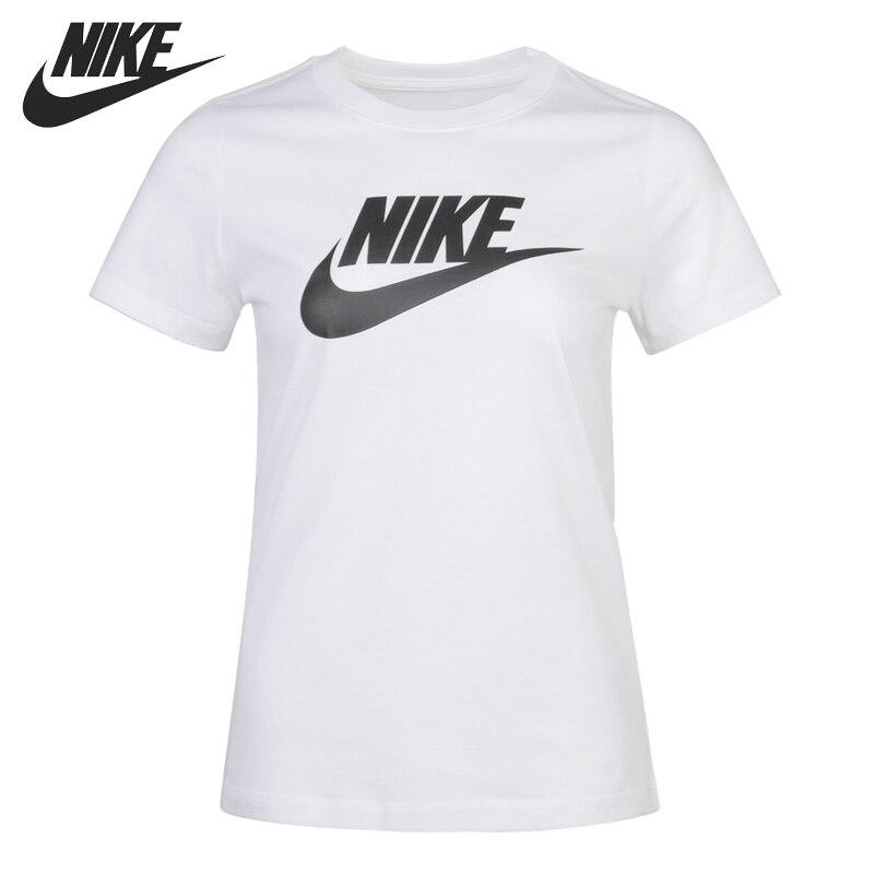 Novedad, camiseta NIKE Original, camisetas de mujer NSW ESSNTL ICON FUTUR, ropa deportiva de manga corta