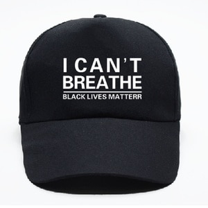Men Women American Baseball Cap I Cant Breath Hat Black Lives Matter Caps Soft Comfortable Breathable Unisez Embroid Hats